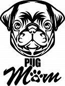 Animal Dog Pug Vex5Td Mom.eps poster