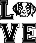 Animal Dog Rhodesian Ridgeback 6T6Ft  Love Copy.eps poster