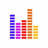 Frequency Equalizer Vector Illustration Sound Volume Wave Audio Voice Bar For  Your Web Site Design, poster