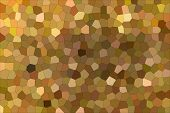 Nice Abstract Illustration Of Brown And Red Impressionism Little Hexagon. Useful  For Your Needs. poster