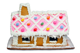 pic of gingerbread house  - Close up photo of a Gingerbread House - JPG