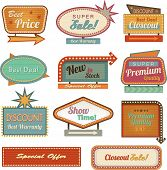 stock photo of 1950s style  - Retro banner sign - JPG