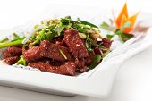 stock photo of chinese parsley  - Chicken Cuisine  - JPG