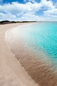 stock photo of tanga  - beach llevant formentera called playa tanga - JPG