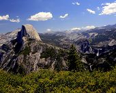 picture of granite dome  - Half Dome from Glacier Point in Yosemite - JPG