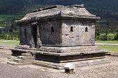 stock photo of arjuna  - Grave in Arjuna complex on plateau Dieng Java Indonesia - JPG