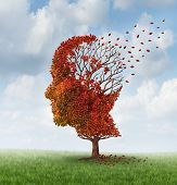 stock photo of neurology  - Brain disease with memory loss due to Dementia and Alzheimer - JPG