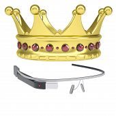 Google Glass and a golden crown