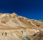 stock photo of himachal pradesh  - Himalayan landscape in Hiamalayas near Baralacha La pass - JPG