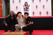 LOS ANGELES - JUN 6:  Chris Tucker, Jackie Chan, Jaden Smith at the Hand & Footprint ceremony for Ja