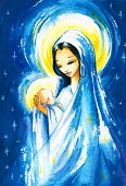 stock photo of mary  - Nativity scene - JPG