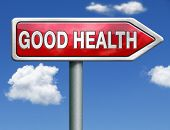 good health and vitality energy healthy mind and body icon button red road sign arrow with text and