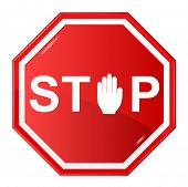 Vector illustration of Stop
