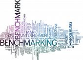 stock photo of benchmarking  - Word cloud  - JPG