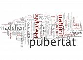 picture of puberty  - Word cloud  - JPG