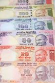 picture of mahatma gandhi  - Assorted colorful  Indian currency in a row - JPG