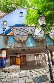 VIENNA, AUSTRIA - 28TH APRIL: Facade of the Hundertwasser House on April 28th 2013 in Vienna, Austri