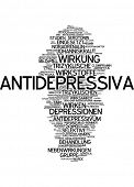 image of antidepressant  - Word cloud  - JPG