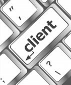 stock photo of clientele  - Customers Service Concept - JPG