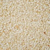 stock photo of sesame seed  - raw white sesame seed as a background - JPG