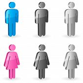 Постер, плакат: Гендерные символы