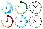 image of chronometer  - clock icons vector illustration on white background - JPG