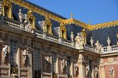 stock photo of versaille  - A part of the palace of Versailles in France - JPG