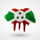 pic of burundi  - Flag of Burundi painted colors - JPG