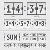 picture of analogy  - Analog white scoreboard digital week timer - JPG