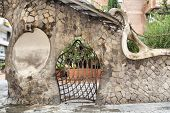 foto of gaudi barcelona  - Part of Miralles Gate  - JPG