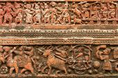 pic of radha  - Terracotta figures at Pancharatna Govinda Temple in Puthia - JPG