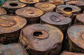 image of darjeeling  - Asfalt in Rusty tuns Darjeeling West Bengal India - JPG