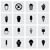 picture of gelato  - Vector ice cream icon set on grey background - JPG