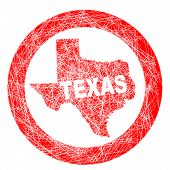 picture of texas map  - A stamp with a outline map of the state of Texas - JPG