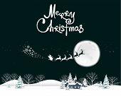 stock photo of santa sleigh  - Santa  - JPG