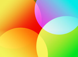 pic of color wheel  - Colorful circular shapes in multiple bright hues - JPG