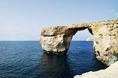 picture of gozo  - The famous Azure Window in Dwejra Gozo Malta - JPG