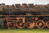 stock photo of locomotive  - Old rusted - JPG