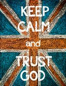 picture of hand god  - Keep Calm and Trust God.