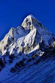 stock photo of mahadev  - dramatic granite Mount Shivling 6543 meters high in the western Garhwal Himalaya - JPG
