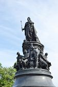 pic of courtier  - Monument to Catherine the Great on Ostrovsky Square in St Petersburg Russia.