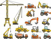 picture of heavy equipment  - Silhouette illustration of heavy equipment and machinery - JPG