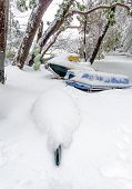 pic of jet-ski  - A snow covered kayak jet - JPG