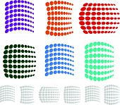 picture of dtp  - Dotted Element Set Eps 10 Vector Illustration - JPG
