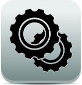 stock photo of rework  - Eps 10 Vector Illustration of Gearwheel Gear Icons - JPG