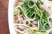 foto of bean sprouts  - chicken pho soup with noodles bean sprouts and cilantro and vegetables - JPG