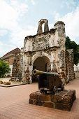 stock photo of malacca  - Porta de Santiago in Malacca - JPG
