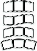 pic of distort  - Eps 10 Vector Illustration of Set of Filmstrip silhouettes with different distortion effect - JPG