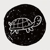 stock photo of tortoise  - Doodle Tortoise - JPG