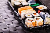 Постер, плакат: Traditional Sushi Box